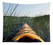 Kayaking Through Reeds Bwca Tapestry