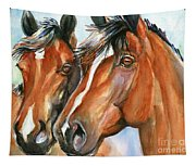 Horse Painting Keeping Watch Tapestry