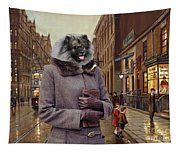Keeshond Art Canvas Print Tapestry