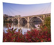 Graceful Feeling - Washington Dc Key Bridge Tapestry
