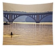 Key Bridge Rower Tapestry