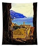 Key Hole View Of Dubrovnik 2 Tapestry