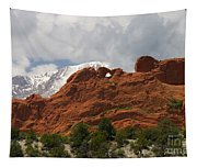 Keyhole To Pikes Peak Tapestry