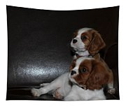 King Charles Puppies Tapestry