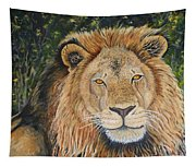 King Of The African Savannah Tapestry
