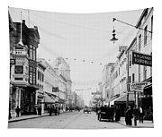 King Street In Charleston South Carolina Circa 1910 Tapestry