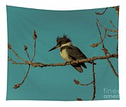 Kingfisher On Limb Tapestry