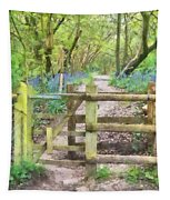 Kissing Gate Watercolour Tapestry