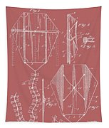 Kite Patent On Red Tapestry