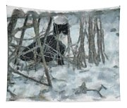 Kitty In The Cold Tapestry