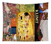 Klimt Collage Tapestry