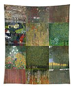 Klimt Landscapes Collage Tapestry