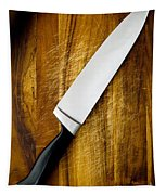 Knife On Chopping Board Tapestry