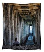 Knitter Under The Pier Tapestry