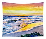 Kona Coast Sunset Tapestry