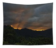 Ko'olau Sunset Rays Tapestry