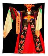 Korean Woman Dancer Tapestry