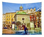 Krakow Main Square Old Town  Tapestry