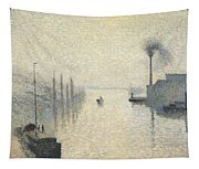 L Ile Lacroix. Rouen. The Effect Of Fog Tapestry