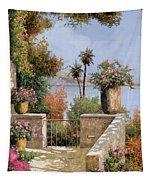 La Terrazza Un Vaso Due Palme Tapestry