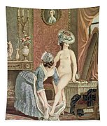 La Toilette Engraving By Louis Marin Tapestry