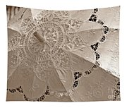 Lace Parasol In Sepia Tapestry
