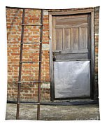 Ladder And Door Tapestry