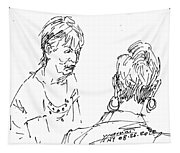 Ladies Chatting Tapestry