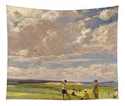 Lady Astor Playing Golf At North Berwick Tapestry