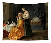 Lady At Her Toilet Tapestry