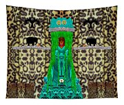 Lady Bear In The Jungle Tapestry