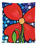 Lady In Red 2 - Buy Poppy Prints Online Tapestry