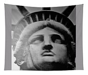 Lady Liberty In Black And White1 Tapestry