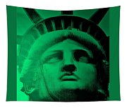 Lady Liberty In Copper Green Tapestry