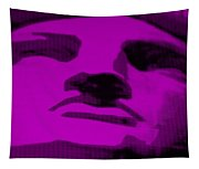 Lady Liberty In Purple Tapestry