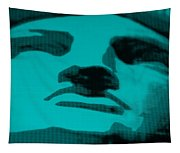 Lady Liberty In Turquois Tapestry