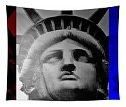 Lady Liberty Red White And Blue Tapestry
