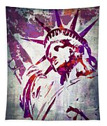 Lady Liberty Watercolor Tapestry