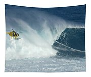 Laird Hamilton Going Left At Jaws Tapestry
