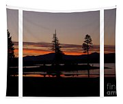 Lake Almanor Sunset Triptych Tapestry