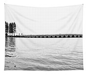 Lake Bridge Mono Tapestry