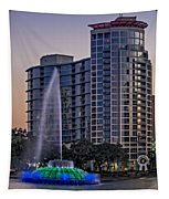 Lake Eola Water Fountain  Tapestry