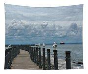 Lake Erie Gulls Tapestry