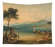Lake Geneva And Mount Blanc Tapestry