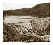 Lake Hodges And Dam San Diego County California  1952 Tapestry