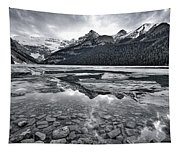 Lake Louise - Black And White #2 Tapestry