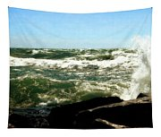 Lake Michigan In An Angry Mood Tapestry
