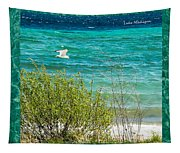 Lake Michigan Seagull In Flight Tapestry