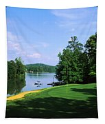 Lake On A Golf Course, Legend Course Tapestry