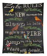 Lake Rules With Birds-d Tapestry